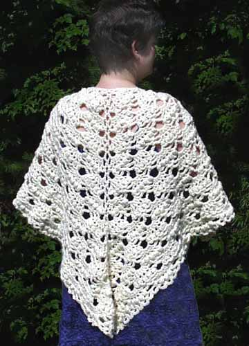 Homespun Yarn Crochet Patterns : Homespun Shawl